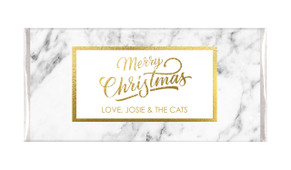 Marble And Gold Personalised Christmas Chocolate Bars