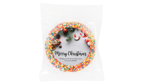 Christmas Background Personalised Giant Chocolate Freckle