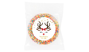 Reindeer Face Custom Christmas Giant Chocolate Freckle