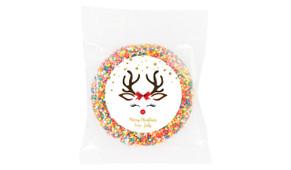 Reindeer Face Custom Christmas Giant Chocolate Freckle