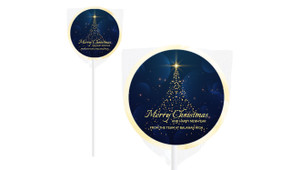 Blue Night Christmas Personalised Lollipops
