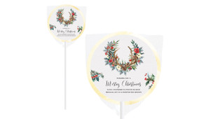 Festive Foliage Personalised Christmas Lollipops