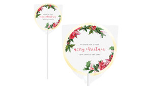 Poinsettia Personalised Christmas Lollipops