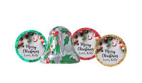 Christmas Background Personalised Chocolate Bells