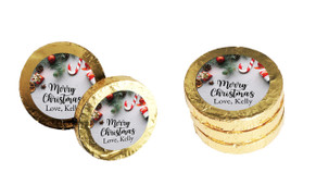 Christmas Background Personalised Chocolate Coins