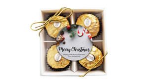 Christmas Background Ferrero Rocher Gift Box