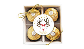 Reindeer Face Custom Christmas Ferrero Rocher Gift Box