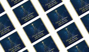 Blue Night Personalised Christmas Mini Chocolates