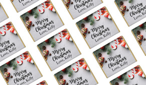 Christmas Background Personalised Mini Chocolates