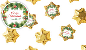 Branch Border Personalised Christmas Chocolate Stars