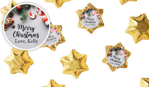 Christmas Background Personalised Chocolate Stars