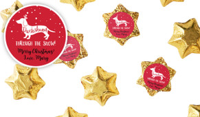 Dachshund Through The Snow Custom Chocolate Stars