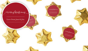 Flowing Words Personalised Christmas Chocolate Stars