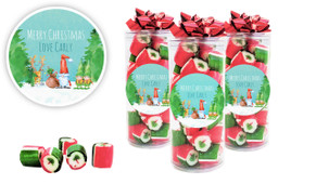 A Watercolour Christmas Personalised Custom Rock Candy Tube