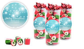 Festive Bunting Custom Christmas Rock Candy Tube