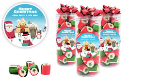 At The North Pole Custom Christmas Rock Candy Tube