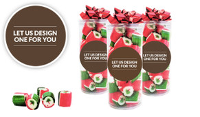 Let Us Design For You Christmas Rock Candy Tube