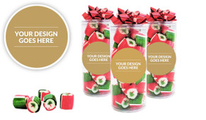 Use Your Own Design Christmas Rock Candy Tube