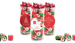 Custom Christmas Rock Candy Tube