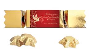 Dove In Gold Personalised Christmas Bon Bon