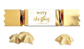 Gold Confetti Stars Personalised Christmas Bon Bon
