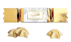 Marble And Gold Personalised Christmas Bon Bon