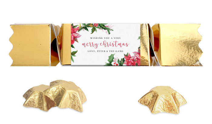 Poinsettia Personalised Christmas Bon Bon