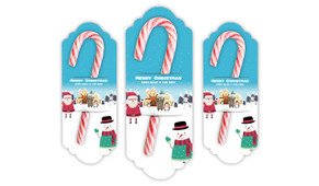 At The North Pole Personalised Candy Cane Card