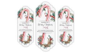 Festive Foliage Personalised Candy Cane Card