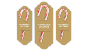 Use Your Own Design Personalised Candy Cane Card