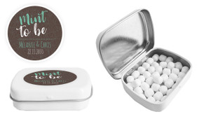 Mint Leaf Background Custom Mint Tin (Including Mints)