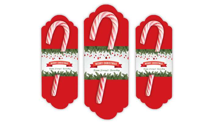 Personalised Candy Cane Card
