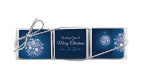 Blue Ornament Mini Chocolate Christmas Trio Favour