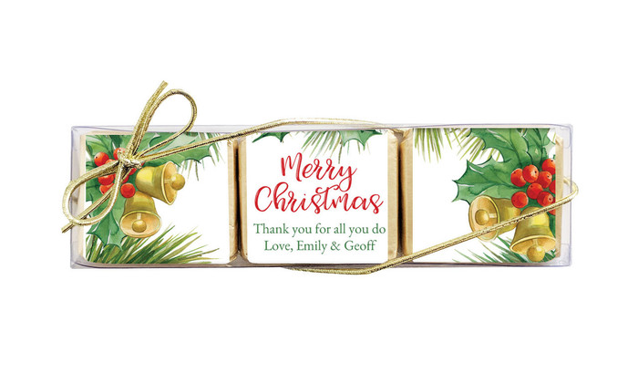 Branch Border Mini Chocolate Christmas Trio Favour