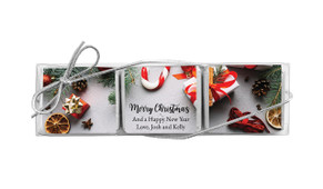 Christmas Background Mini Chocolate Trio Favour