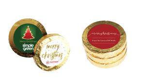 Custom Christmas Chocolate Gold Coins