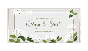 Jasmine Personalised Engagement Chocolate Bar