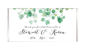 Hanging Leaves Personalised Engagement Chocolate Bar