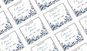 Blue Floral Engagement Mini Chocolates