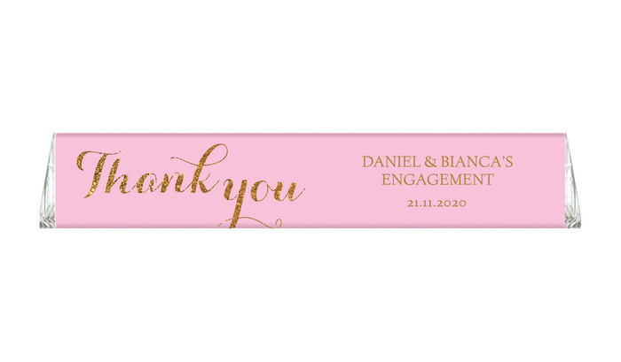 Golden Thank You Custom Toblerone Engagement Chocolates