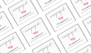 Flowing Text On Canvas Engagement Mini Chocolates