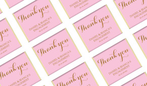 Golden Thank You Personalised Engagement Mini Chocolates