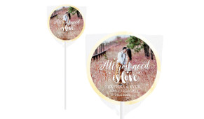 All You Need Is Love Photo Engagement Lollipops