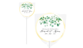 Hanging Leaves Personalised Engagement Lollipops