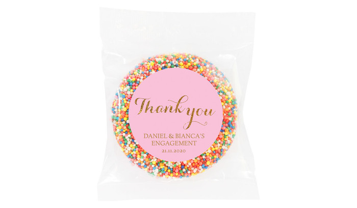 Golden Thank You Custom Engagement Giant Freckle