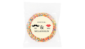 Mr And Mrs Engagement Personalised Giant Freckle