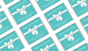 Turquoise Blue Bow Personalised Engagement Mini Chocolates