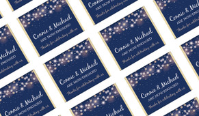Night Lights Personalised Engagement Mini Chocolates