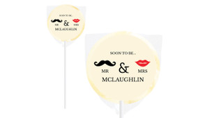 Mr And Mrs Personalised Engagement Lollipops