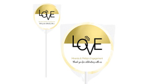 Love Letters Personalised Engagement Lollipops